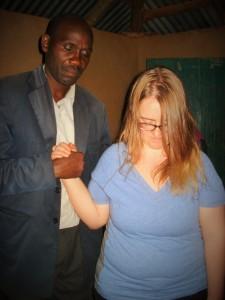 Josiah and Ellie agree in prayer